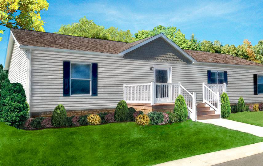 rendering of the Sunflower manufactured home design model