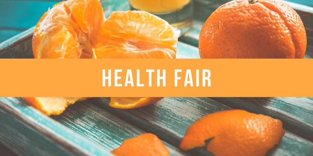 Health Fair Orange Background