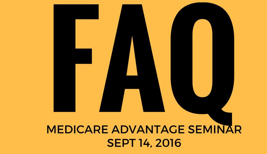 FAQ medicare advantage seminar