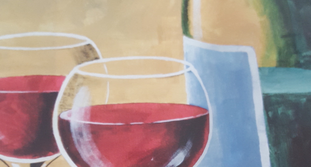 55+ wine paint night in Williamstown NJ Finished Painting