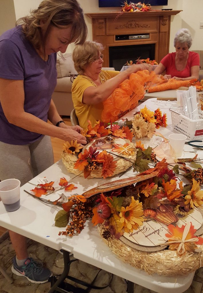 Fall Craft Classes Making Door Wreaths