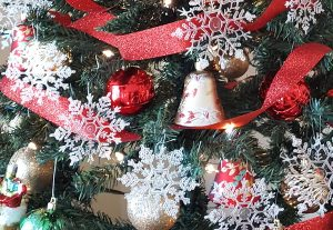 Christmas trees with ornaments