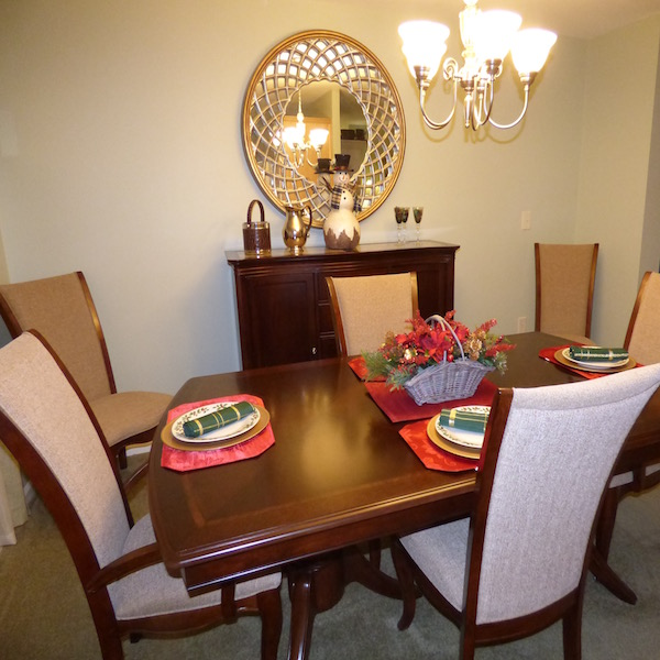 Evergreen Model Dining Room