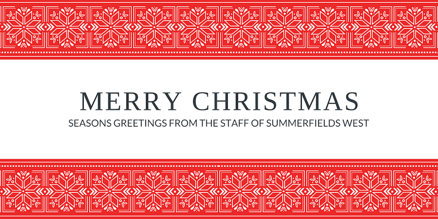 Merry Christmas Seasons Greetings From the Stuff of Summerfields West