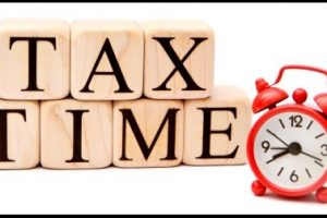 Tax Time with Red Clock