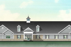 Color rendering of the New Clubhouse at Summerfields West