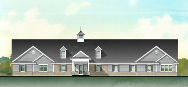 Color rendering of New Clubhouse