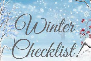 Winter Checklist!