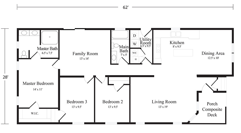 Seabreeze Model Home floor plan