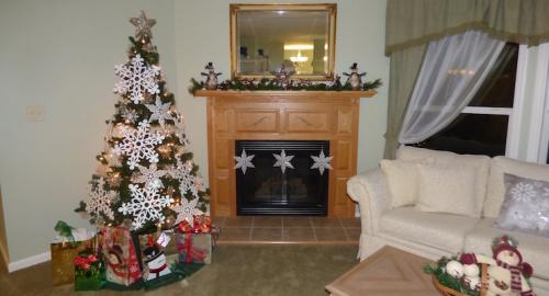Christmas Decorations for Evergreen Model Living Room